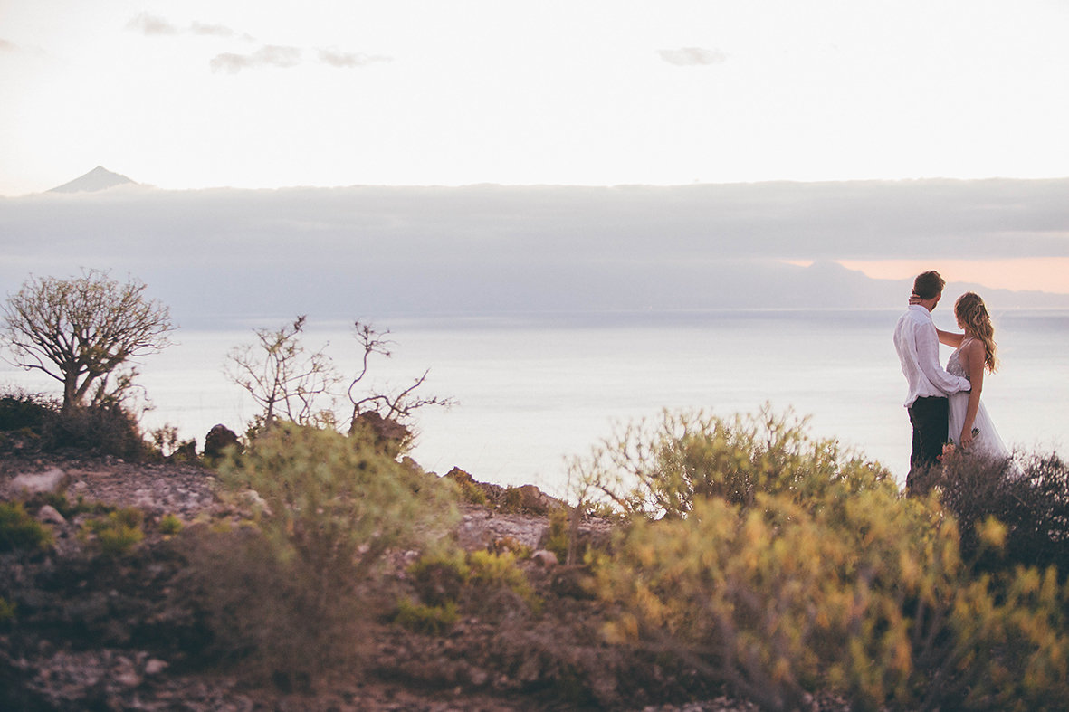 Blick von der Küste3 La Gomeras, Brautpaar, Elopement