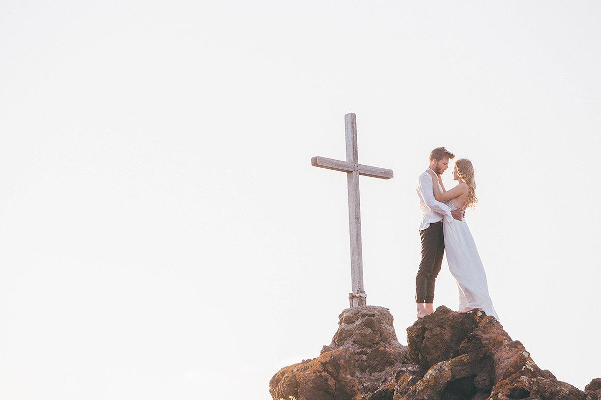 Felsenküste von La Gomera, Brautpaar